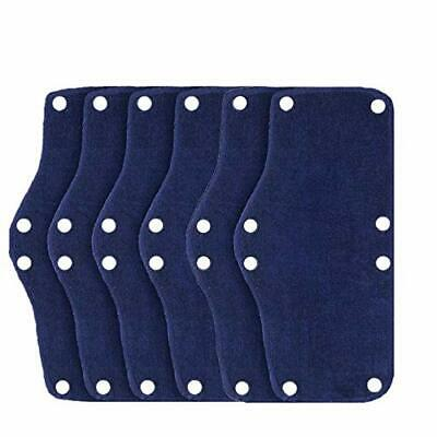 6pcs Hard Hat Sweatband Cotton Hard Hat Liner Reusable Hardhat Sweatbandsblue
