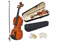 4/4 full size acoustic violin. A perfect instrument to for beginners, students or daily practice.