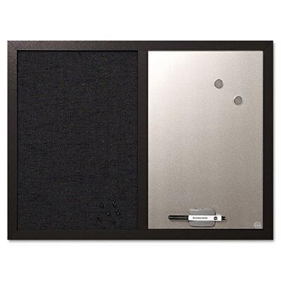 Combo Bulletin Board Bulletindry Erase 24x18 Black Frame