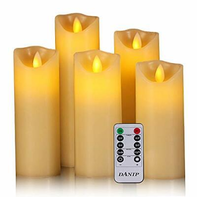 Flameless Candles Real Wax Pillar Flickering Moving Wick Dan