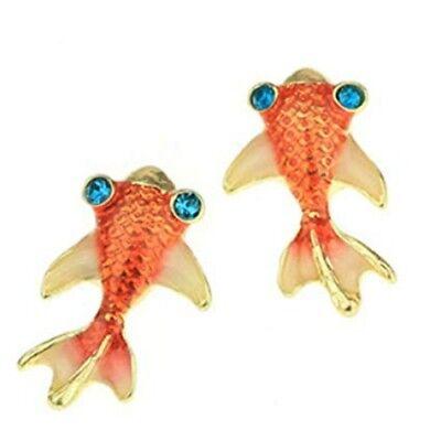 Koi Fish Earrings (Goldfish Stud Earrings - Koi Fish Carp Earring Set ~  )