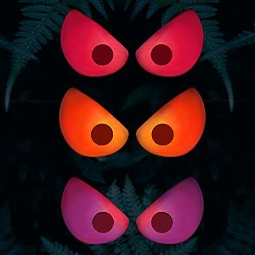 3 Pack Colorful Spooky Eyes Lights Glowing Eyes Light Halloween Decoration