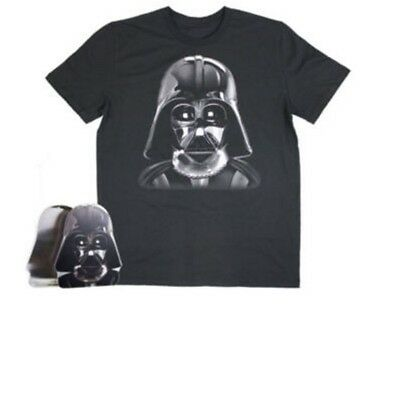 Star Wars Black Gift Packaging Darth Vader Face Size Large T Shirt Graphic Mens