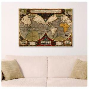 World Map Poster EBay - Faded poster maps for sale us