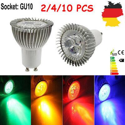 2/4/10 Stück GU10 3W LED Lampe Strahler Spot Reflektor Leuchtmittel Lampen DE