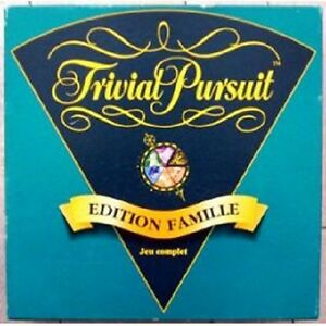 jeu de soci t trivial pursuit edition famille 1995. Black Bedroom Furniture Sets. Home Design Ideas