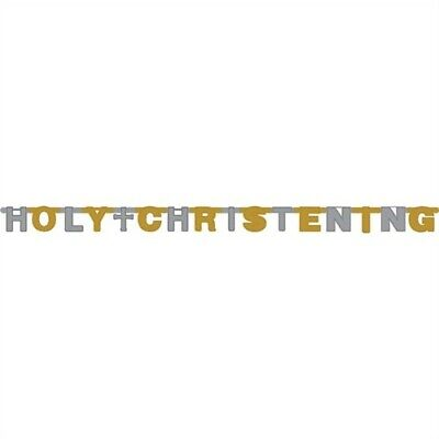 Christening Party Banners (Holy Christening Foil Jointed Banner Religious Party Supplies)