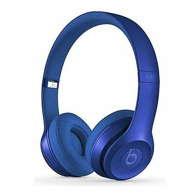 Brand New Original Beats by Dr. Dre Solo 2 Wired Headphones - Blue Sapphire