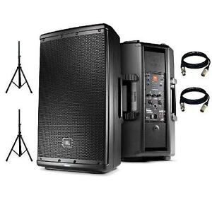 **LIQUIDATION** JBL EON 612 (DEMO) + STAND & CABLE (PAIRE)