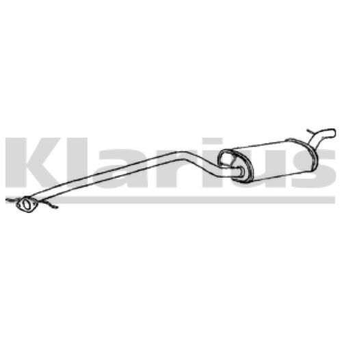 1x KLARIUS OE Quality Replacement Middle Silencer Exhaust For FORD Diesel