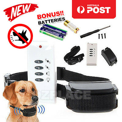 DOG REMOTE TRAINING COLLAR - Electronic Trainer-Anti Bark Barking Stop FAST AU