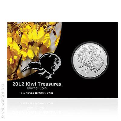 1 oz Silber Kiwi Neuseeland 2012 1 New Zealand Dollar im offiziellen Blister online kaufen