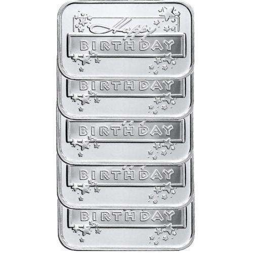 Happy Birthday Silver Bar Ebay