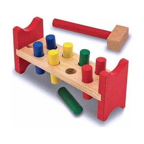 Hammer Game Toy : Wooden hammer toy ebay