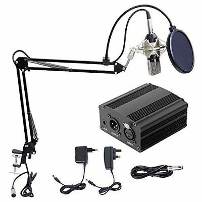 DJ Kondensatormikrofon Tonor XLR Set Recording Musik Pro-Audio Aufnahme Studio