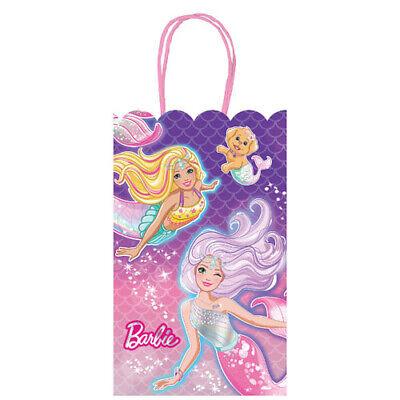 BARBIE Dreamtopia Mermaid KRAFT PAPER FAVOR BAGS (8) ~ Birthday Party Supplies