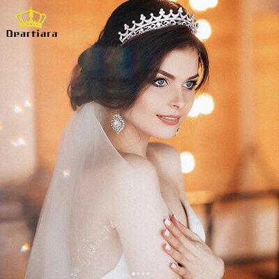 Deartiara Princess Tiara Crown Crystal Headbands for Wedding Prom Birthday Party