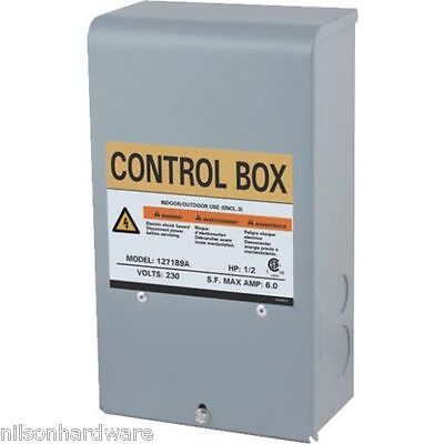 Star Water Pump Motor Control Box 3 Wire Submersible Well 1/2 HP 230V 127189 1/2 Hp 230v Pump Control