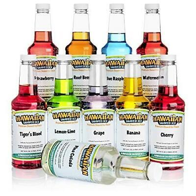 Hawaiian Shaved Ice Syrup 10 Pack Pints