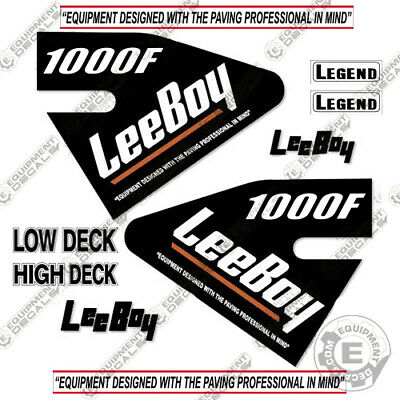 Leeboy 1000f Decal Kit Asphalt Paver Equipment Decals - 7 Year Vinyl
