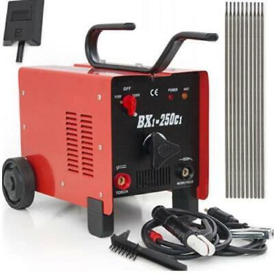Bx1-250c1 Arc Welder 110220v Ac Welding Machine 250 Amp With Face Mask