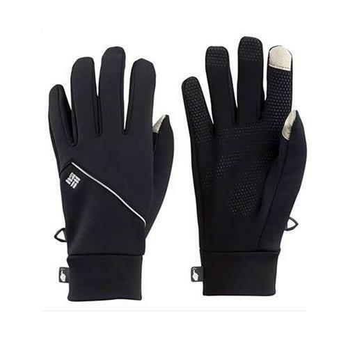 Columbia Mens L/XL Trail Summit Running Gloves Black SL9479 FAST SHIP! E9