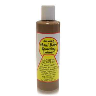 Hawaiian MAUI BABE BROWNING TANNING LOTION 8oz Natural Fast