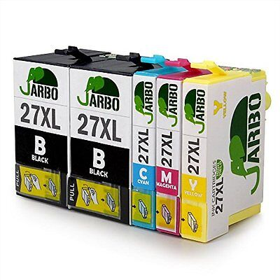 JARBO Compatible Ink Cartridges Replacement for Epson 27XL (T2711 T2712 T2713 T2
