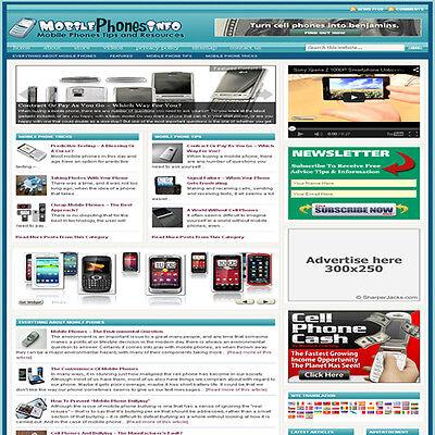 Established Cell Phones Affiliate Website Turnkey Business Free Hosting