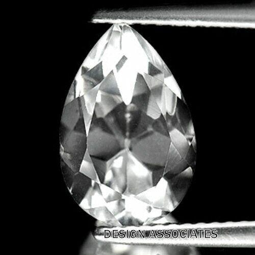DIAMOND QUARTZ 15 x 10 MM PEAR CUT ALL NATURAL F-2976