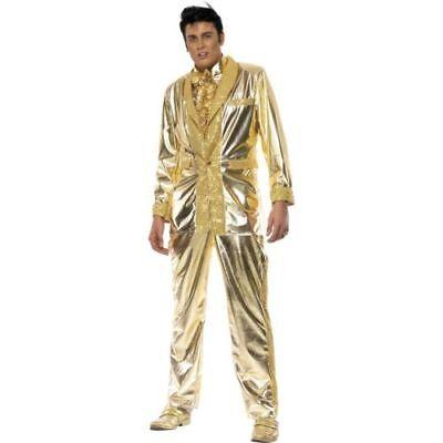 n Kostüm Elvis gold Glamour Rockstar (Herren Elvis Kostüm)
