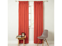 """JOHN LEWIS Cotton Rib RED, Lined Curtains 66 x 90"""" drop"""