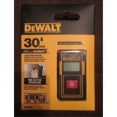 Dewalt 30-foot Pocket Laser Distance Measurer