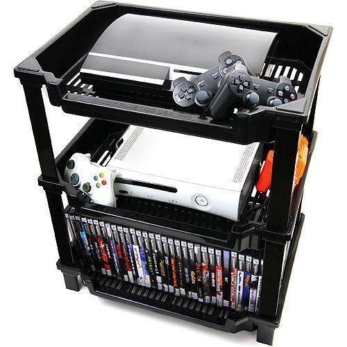 game console storage ebay. Black Bedroom Furniture Sets. Home Design Ideas