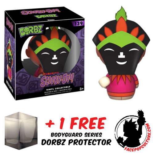 FUNKO DORBZ SCOOBY DOO WITCH DOCTOR COLLECTIBLE FIGURE + FREE DORBZ PROTECTOR