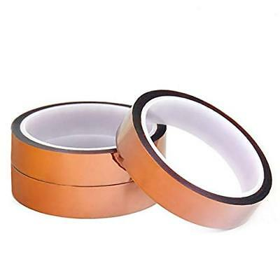 3rolls 100ft High Temperature Resistant Heat Tape Silicone Adhesive 10mm