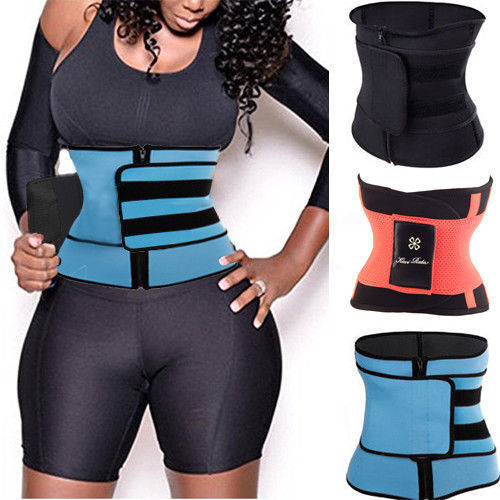 Women Men Yoga Slim Fit Waist Trainer Belt Wrap Fat Burner B