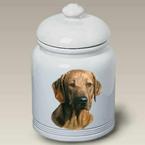 Rhodesian Ridgeback Ceramic Treat Jar LP 45088