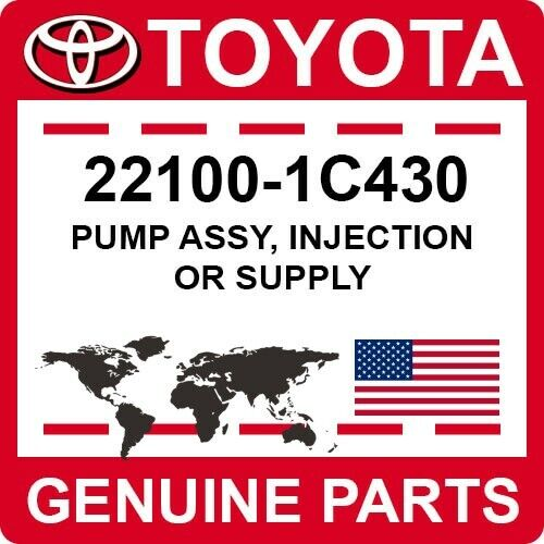 22100-1c430 Toyota Oem Genuine Pump Assy, Injection Or Supply