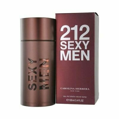 212 SEXY BY CAROLINA HERRERA 3.4 O.Z EDT SPRAY *MEN'S PERFUME* NEW SEALED BOX