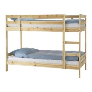 Twin wood bunk bed for sell