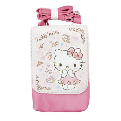 3abae27193 Hello Kitty Square Pink Mobile Cell Phone Cross Shoulder Bag Cute Girl Kids