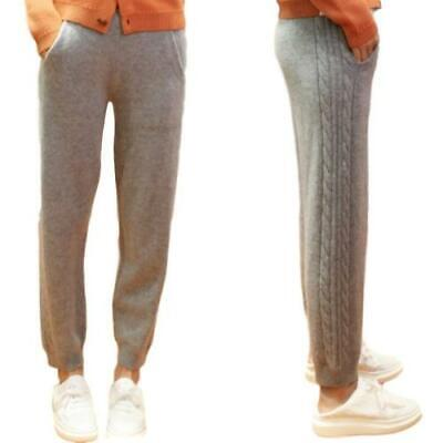 Winter Women/'s Wool Pants Knitting Stretch Thicken Wool Leisure Trousers Warm D