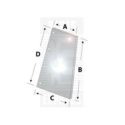 Case Ih Quarter Side Glass Part Wn-109319c2 For Tractor 1086 1486 1586 3388 3588