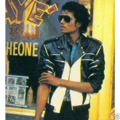Michael Jackson 1984 Pepsi Ad / Commercial Biker Leather Jacket Cosplay Costume](Michael Jackson Leather Jacket)