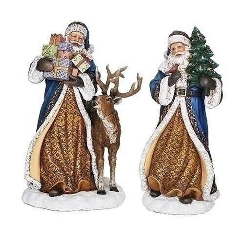 """10"""" Assorted Blue Santa Figurines by Roman Inc ~~  Individually Sold ~~"""