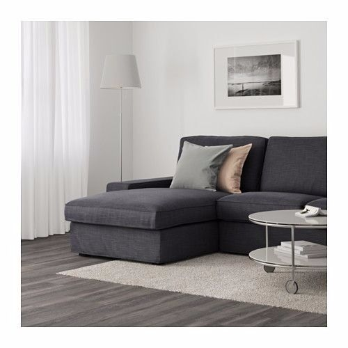 Sofa bed with chaise longue vilasund model from ikea for Chaise longue design cuir