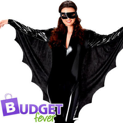 Spooky Vampir Kostüme (Spooky Dracuella Bat Ladies Fancy Dress Vampire Animal Halloween Womens Costume)