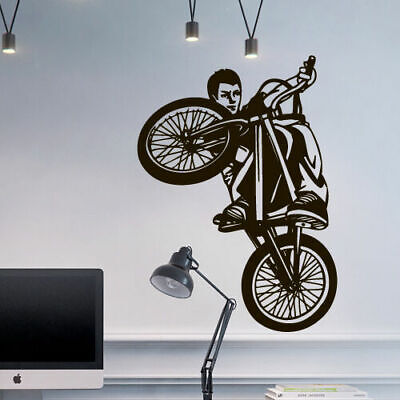 Used, Wall Decal BMX Rider Sticker Bike Bicycle X Games Racing Cycle Jump Teen M1650 for sale  Virginia Beach