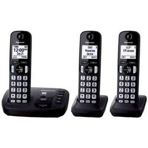 Panasonic KX-TG443CSK 3 Handset Cordless Phones - Open Box